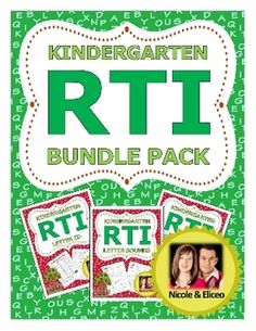 Kindergarten RTI Complete Pack (letter identification, sounds, and sight words! Differentiated Kindergarten, Literacy, School Fun, School Stuff, Kids Education, Special Education, Response To Intervention, Letter Identification, Guided Reading Groups