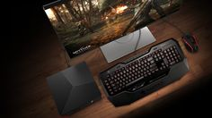 Alienware is showing off four new systems at this year's gaming-focused conference. The lineup include the Alienware 13 OLED notebook, a new version of the Alpha Steam machine and new Aurora and Area 51 desktops. Computer Repair, Computer Keyboard, Alienware, Latest Laptop, Image News, Best Laptops, Free Hd Wallpapers, Entertainment System, Indie Games