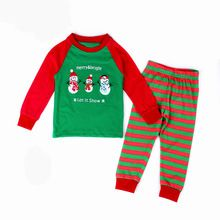 Children Christmas Pajamas Sets Long Sleeve Kid Sleepwear Clothing Set Baby Boy and Girls Pajamas Sets T Shirt and Pant Set(China (Mainland))