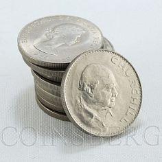 United Kindom 1 crown Set of 10 coins Winston Churchill Prime Minister 1965
