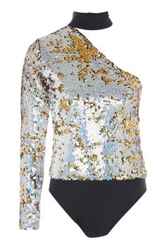 **One Sleeve Sequin Body by Jaded London - New In This Week - New In - Topshop Europe