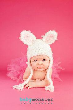 Newborn Baby Hat  Bunny  Hat  Ready to Ship  Baby door JojosBootique, $26.00
