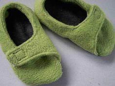 Fleece Schuhe, Hausschuhe, Krabbelpuschen, Krabbelschuhe nähen, Size 5/6, 7/8, 10/11 (22/23, 24/25, 27/28)