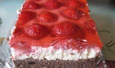 Bezlepkové řezy s tvarohem a jahodami Cheesecake, Gluten Free, Snacks, Desserts, Kuchen, Glutenfree, Tailgate Desserts, Appetizers, Deserts