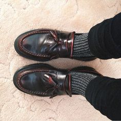 """The #DrMartens Adrain Loafer, worn by @chanelthehuman #DrMartenStyle"""