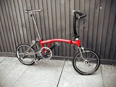 Brompton fixie with flipped North-road bars