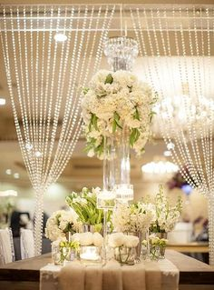 20ft X 3ft Clear Crystal Strands Curtain Backdrop Party Decoration Metal Rod Top Efavormart