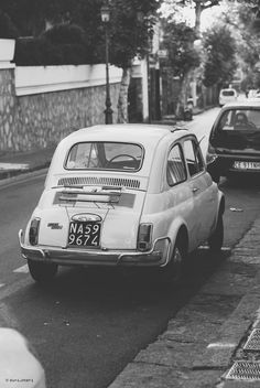 road trip through italy – old italian car / Black and white poster - Modern Black And White Picture Wall, Black And White Posters, Black And White Wallpaper, Black N White, Black And White Pictures, Black Aesthetic Wallpaper, Black And White Aesthetic, Aesthetic Colors, Aesthetic Pictures