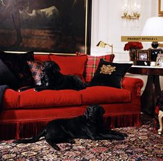 Ralph Lauren Home Noble Estate Collection black and red gold accents - the richness of this decor is stunning