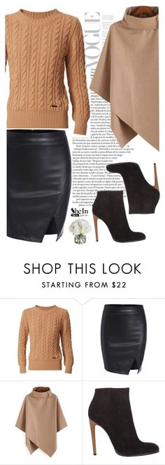 """Black & Camel"" by pamela-802 ❤ liked on Polyvore featuring Burberry, Haider Ackermann, Diane James and skirt"