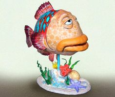 Trendy Ideas For Diy Paper Mache Fish Paper Mache Projects, Paper Mache Clay, Paper Mache Sculpture, Fish Sculpture, Diy Craft Projects, Clay Art, Paper Sculptures, Diy Paper, Paper Art
