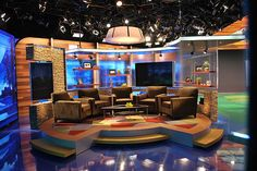like this living room set. Golf Channel Broadcast Set: Interview area