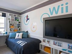 wi video game bedroom for kids