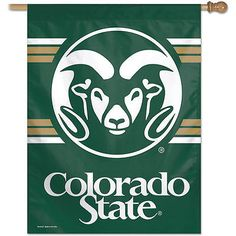 """Colorado State Rams 27"""" x 37"""" Sleeved Porch Sleeved Banner made in USA"""
