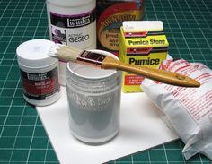 FOR PASTELS: Description and formula measurements for homemade pastel grit-ground...