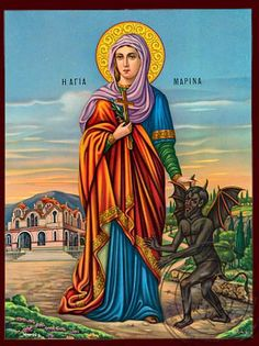 Saint Marina is a Heavenly Intercessor for Infertility - The Story of our Miracle Baby - Mireille Mishriky Ste Marguerite, Haitian Art, St Margaret, Miracle Baby, Sisters In Christ, Africa Art, Christian Families, Holy Mary, Art Icon