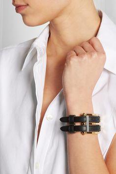 Balenciaga|B leather bracelet Balenciaga, Cuff Bracelets, Bangles, Leather Ring, Fossil, Calves, Beauty Makeup, Jewels, My Style