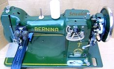 Bernina Industrial circa 1940.  Bernina started making industrial machines early on in their Swiss factory and although they are not uncommon this is one of the very early zig-zag models which is extremely rare today.
