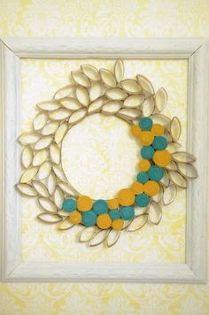 Toilet Paper Roll Wreath - 14 Toilet Paper Roll Crafts - A Little Craft In Your Day