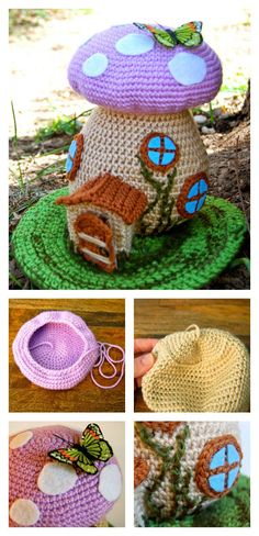 Crochet Adorable Fairy House Free Pattern