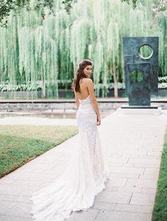 Elegant long train Galia Lahav wedding dress: Photography: Charla Storey Photography - www.charlastorey.com   Read More on SMP: http://www.stylemepretty.com/2017/01/05/classic-neutral-wedding-inspiration/