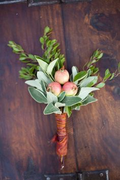 Herb Boutonniere -as someone who loves herbs both to look at, for culinary purposes but also how they look I love this idea