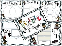 Graphic Organizers (Monkey Theme) from Always A Lesson on TeachersNotebook.com -  (7 pages)  - Use these cute monkey themed graphic organizers for your students to gather information
