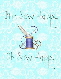Sew Happy - Printable