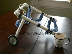 pvc dog wheelchair