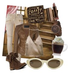 """I love coffee♡"" by adriane-quoos on Polyvore featuring Balmain, Boohoo, Olivia Pratt, Barbara Casasola and Elizabeth and James"