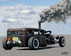 rat rod drifting gif