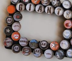 Giants Baseball Bottle Cap Picture Frame by PictureCaps on Etsy, $19.99