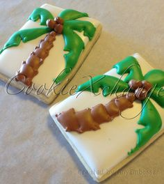 Coconut Tree Decorated Cookies by CookieXchange