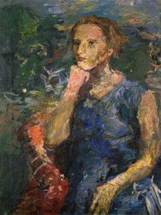 OSKAR KOKOSCHKA Portrait of Annie Wolff-Knize, 1934-1935  Oil on canvas 31 1/2 × 23 7/8 in 80 × 60.6 cm