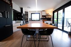Floating Kitchen Island, Kitchen Island Dining Table, Floating Table, Butler Pantry, Wood And Metal, Designer, Inspiration, Pantry Room, Biblical Inspiration