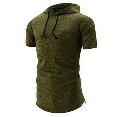 New Premium Streetwear Spring Fashion 2018 Brand Male T Shirt Hooded T-shirt Trends T-shirt Men Funny Summer Hip Hop Tee Short Sleeves Mens Cotton