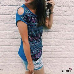 Ombrinho de fora ☀ #lojaamei #azulbic #ombro #beijinhonoombro #verao #tshirt