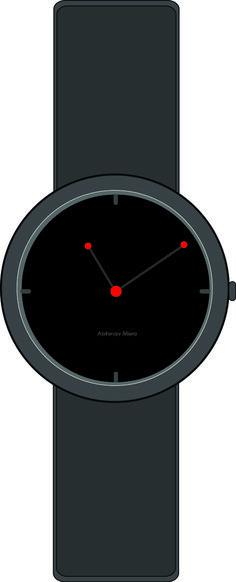 'Moon and  Earth Orbit'  Wristwatch design by Abhinav Misra Modern , contemporary , Minimalist