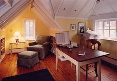attic ceiling and floors