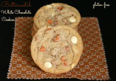 Favorite Gluten-free Butterscotch White Chocolate Cookies