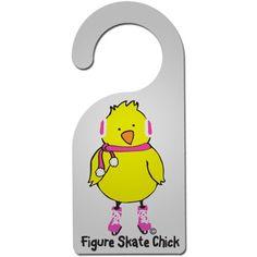 Figure Skate Chick Door Hanger