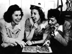 The Andrews Sisters' I Can Dream, Can't I. Hope you enjoy! Credit also goes to Gordon Jenkins who did the arrangements and for conducting the orchestra and c. Patti Page, Bobby Vinton, Doubting Thomas, Afro, Abbott And Costello, 60s Music, Les Brown, Types Of Music, Hit Songs