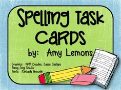 Step into 2nd Grade with Mrs. Lemons: Spelling Task Cards FREEBIE
