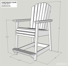 Adirondack Bar Chairs Home Furniture Design. Home and Family Dining Room Table Chairs, Deck Chairs, Living Room Chairs, Outdoor Chairs, Outdoor Lounge, Living Rooms, Diy Bar Stools, Bar Stools With Backs, Deck Furniture