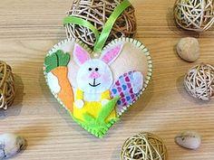 Создаем сердечко из фетра «Кролик с морковкой», или Как оригинально украсить дом к Пасхе - Ярмарка Мастеров - ручная работа, handmade