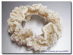 エコに余り毛糸でもふもふボリューミィーなシュシュの作り方