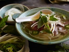 Kendra- This one is for you. I need some of this soup asap!! Vietnamese Pho Rice Noodle Soup with Beef from FoodNetwork.com