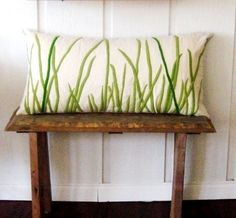 tall grass pillow cover king size. $80.00, via Etsy.