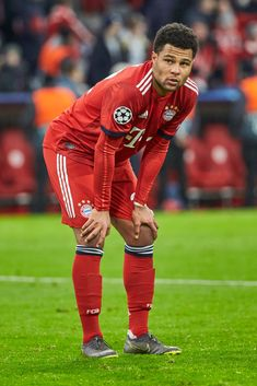 Serge Gnabry of Bayern Muenchen looks dejected after the UEFA Champions League Round of 16 Second Leg match between FC Bayern Muenchen and Liverpool at Allianz Arena on March 2019 in Munich,. Get premium, high resolution news photos at Getty Images Serge Gnabry, Fc Bayern Munich, Soccer Skills, The Great White, Don Juan, Uefa Champions League, Football Players, Ronaldo, Liverpool
