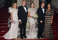 Camille Gottlieb, Louis Ducruet and his wife Marie. Princess Caroline wore Chanel dress from Spring Summer 2014 Haute Couture collection Princess Stephanie, Princess Charlene, Princess Estelle, Princess Madeleine, Crown Princess Victoria, Camille Gottlieb, Secret Game, Religious Wedding, Monaco Royal Family